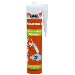 Mastic silicone bâtiment Gebsicone S GEB