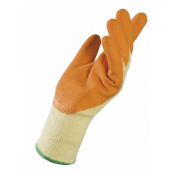 Gants manutention tricot coton paume enduite latex La paire