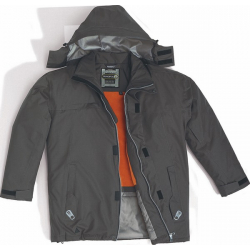 Parka polyester Ripstop DUNCAN Grise
