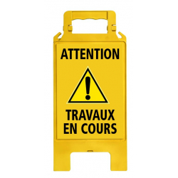 Chevalet de signalisation Attention Travaux en cours