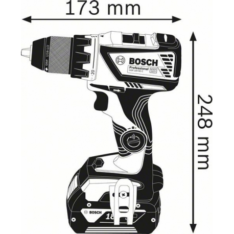 Perceuse-Visseuse sans-fil (connectable) BOSCH GSR 18V-60 C 2x4,0 Ah Professional 0615990J45
