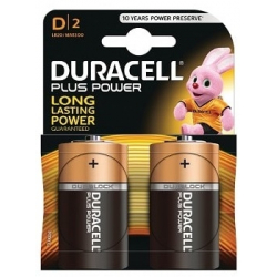 Duracell Plus de type D (Pack de 2)